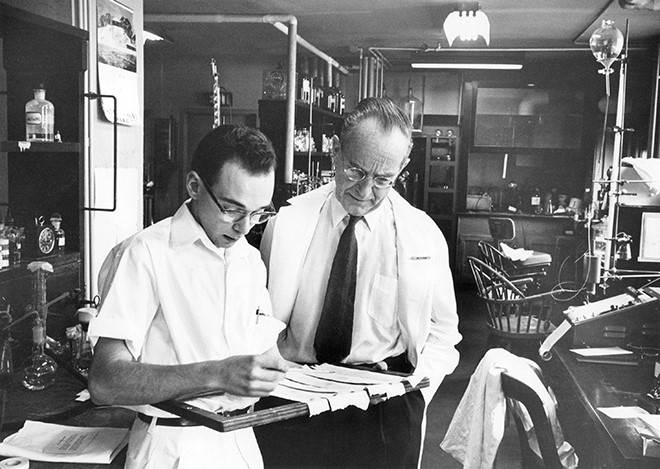 Dr. Irvine Page and Lab Tech 1960s A3112660